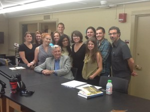 EvoS students with E.O. Wilson
