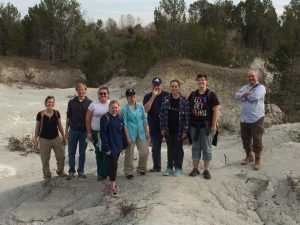 UA EvoS and Marine Science Club after fossil collecting at Harrell Station